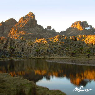 Mount Kenya on a early morning