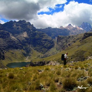 On the way up the slopes of Mount Kenya