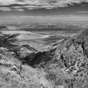 Mt. Olesekut looking down a deep gorge