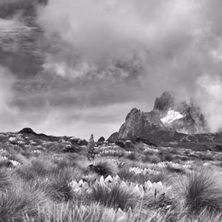Mount Kenya and the Lewis Glacier