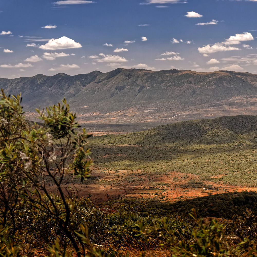 The Ngong hills as seen from the Great Rift Valley