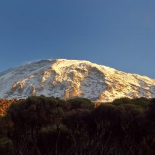 Mount Kilimanjaro after a night with a heavy snow storm